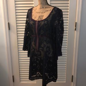 NWT! Free People Blue Lace Dress